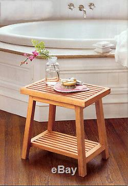 18 A Grade Teak Side Table Bath Stool End Shower Bench Patio Spa Outdoor Indoor