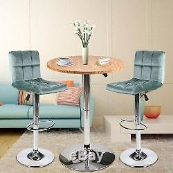 3 Piece Bar Table Set Adjustable Height Swivel Bar Stools Counter Dining Chairs