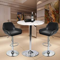3-Piece Bar Table Set Counter Bar Stools Dining Chairs Bistro Pub Kitchen Swivel