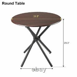 3 Piece Table Set Metal Bar Stools Kitchen Dining Furniture with Fodable Chair