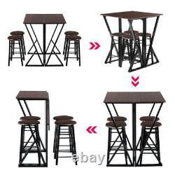 5 PCS Dining Set Table Modern Counter Height And 2 Chairs Kitchen Bar Furniture