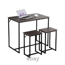 5 Piece Dining Table Set+4 Chairs Wood Metal Home Kitchen Breakfast Furniture
