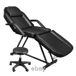 73 Portable Massage Table Chair Tattoo Parlor Spa Salon Facial Bed With Stool
