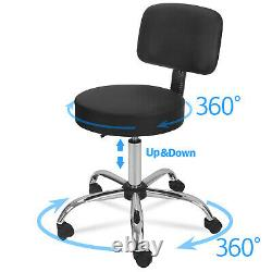 Adjustable Spa Salon Stool Chair + Drafting Table Craft Station withGlass Top