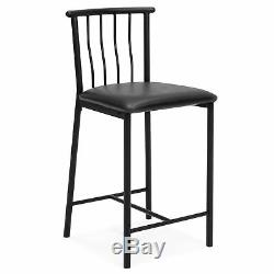 BCP Kitchen Counter Height Dining Table Set with 2 Stools (Espresso)