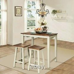 Bar Counter Height Table and Chairs Set Modern 3 Piece Kitchen Dining Furniture
