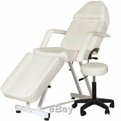 Beige Facial Esthetician Bed with Stool & Adjustable Head Rest FB-40BE