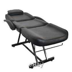 Black Facial Bed Salon Barber Chair Sheet Set Spa withTattoo Massage Table & Stool