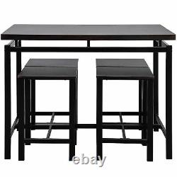 Dining Table Set With4 Chairs Wood Kitchen Dining Room Table Furniture Espresso