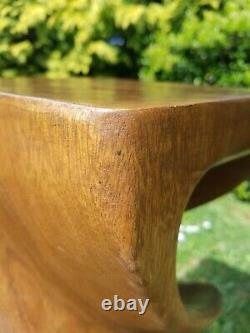 Double Twist Side Table/Stool/Solid Acacia Wood/Lamp Table/Plant Stand/Waxed 20