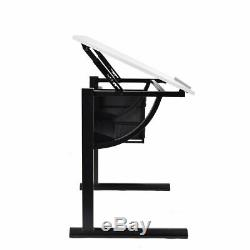 Drafting Table Drawing Desk Art & Craft Art Hobby Folding Adjustable with Stool