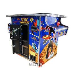 HUGE 22 inch screen CLASSIC ARCADE COMMERCIAL COCKTAIL TABLE 60 + 2 STOOLS
