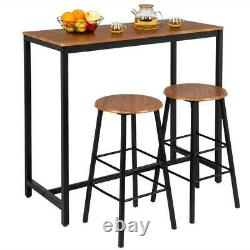 High Grade 3-Piece Pub Table Set with 2 Bar Stools for Kitchen Dining Room New