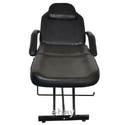 Hot Adjustable Spa Facial Tattoo Acupuncture Massage Table Chair Beauty Black