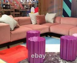 Kartell Colonna Stool in Violet by Ettore Sottsass of Memphis Design