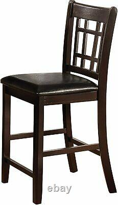 Lavon 5 Piece Counter Height Dining Table Chairs Dinette Set in Espresso Finish
