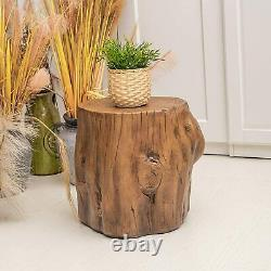 Log End Table Stool Rustic Cabin Decor Indoor Outdoor Beach Wood Drink Stand