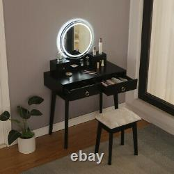 Makeup Table Vanity Set WithScreen Dimming Mirror Dressing Table WithStool LED Light