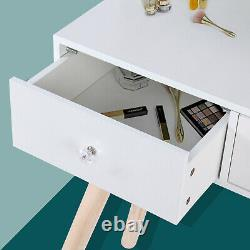 Makeup Vanity Set Bedroom Dressing Table LED Light Mirror 3 Drawers with Stool
