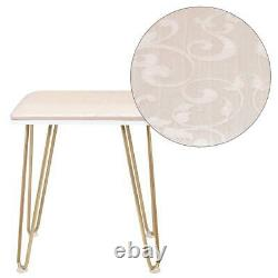 Makeup Vanity Table Set with Stool Touch Switch Light Mirror 2 Drawers Metel Leg