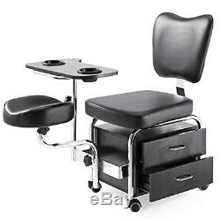 Manicure Pedicure Nail Station Salon Chair Beauty Table Desk Stool Spa Drawers