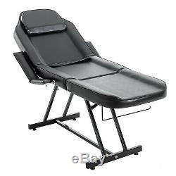 Massage Table Facial Bed Chair with Adjustable Portable Stool Removable Headrest