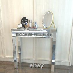 Morden Mirror Dressing Table Makeup Vanity Set With Cushioned Stool & 2 Drawer