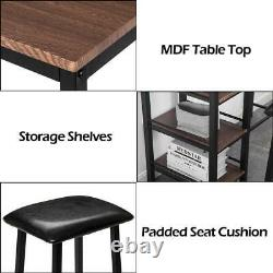 New 3 Style 3 Piece Pub Table Set Bar Stools Dining Furniture Counter Height