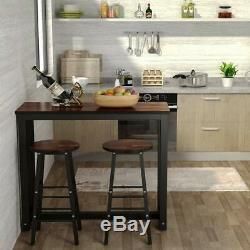 Pub Table Set 3 Piece Bar Stools Dining Kitchen Furniture Counter Height Chairs