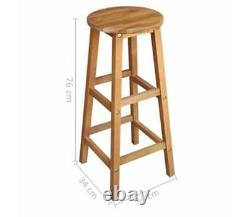 Small Kitchen Dining Table And 2 Stools Chairs Set Bistro Wooden Breakfast Bar