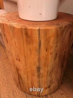 Solid Wooden log stool / side table natural or oiled finish, outside or indoors