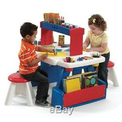 Step2 Creative Projects Table Kids Art Desk with Two Stools