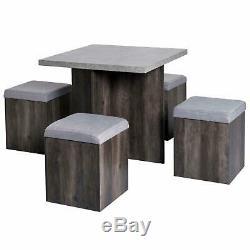 Stowaway Dining Set Table And 4 Chairs Stools Compact E