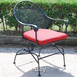 TABLE CHAIRS SET PATIO Dining Outdoor Bistro Furniture Porch Bar Stools Vintage