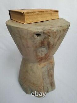 Teak Root Side Table/Grey Washed/Rustic/Solid Wood/Hand Crafted/Lamp Table/Stool