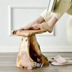 Tree Stump Stool Live Edge, Natural Edge Side Table, Plant Stand, Nightstand