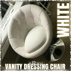 Vanity Dressing Stool For Table Padded Chair Makeup Seat Cosmetic Bench White