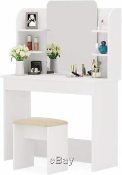 Vanity Set with Mirror, Makeup Table with Stool Dressing Table Dresser Desk BEST