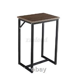 Woodyhome Kitchen Dining Set Wood Bar Table Chair Home Space Saving Furniture