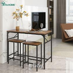 YITAHOME 3 Piece Dining Set Table Counter Height Kitchen Bar Furniture withStools