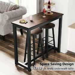 3 Piece Pub Table Set Bar Tabourets Kitchen Dining Furniture Counter Height Chairs