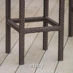 Bar Extérieur Set Lawn Patio Garden Dining Table Stools Chair Wicker Furniture New