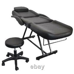 Hot Adjustable Spa Facial Tattoo Acupuncture Massage Table Chaire Beauty Black