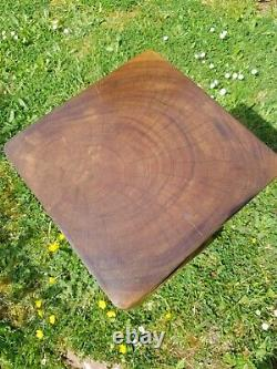 Table Latérale Double Twist/tool/solid Acacia Wood/lamp Table/plant Stand/waxed 20